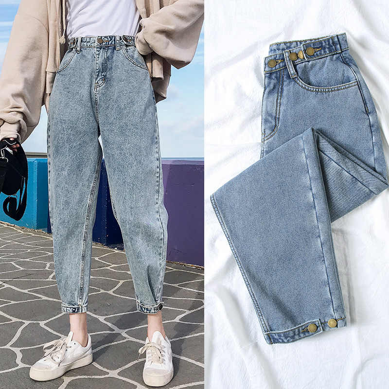 2020 Spring Summer Boyfriend Jeans For Women Casual Loose Vintage Mom Jeans High Waist Jeans Plus Size Denim Pants Women Jeans Aliexpress
