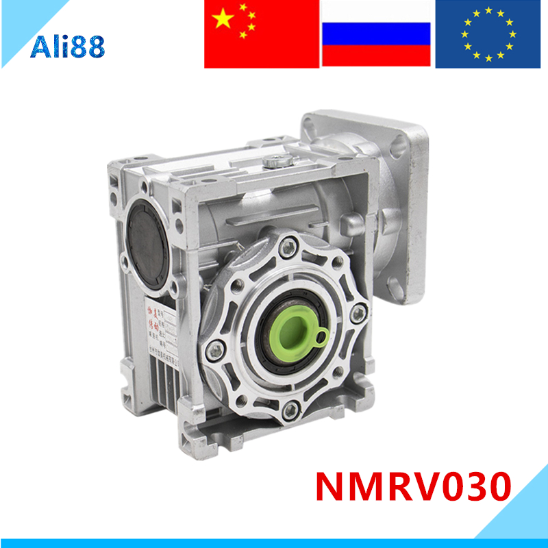 NMRV030 worm gearbox 1:5/7.5/10/15/20/25/30/40/50/60/80/100 Ratio 11mm input shaft Gearbox Reducer for NEMA23 motor image