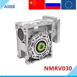 NMRV030 wurm getriebe 1:5/7.5/10/15/20/25/30/40/50/60/80/100 verhältnis 11mm eingang welle Getriebe Minderer für NEMA23 motor
