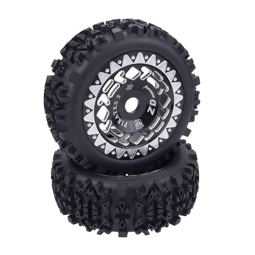 2pcs 1/8 RC Buggy Scale Truck Off-Road Tyre Banner Wilderness Tires Glue Wheels Contest Practice for 1/8 RC Car Parts