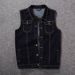 Image 3 - Mens denim vest mens spring blue outdoor multi pocket vest sleeveless 8XL 7XL 6XL 5XL large size denim vest handsome tide