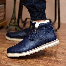2019 Size Men Winter Warm Boots Casual Shoes Men Fashion Plush Snow Boots