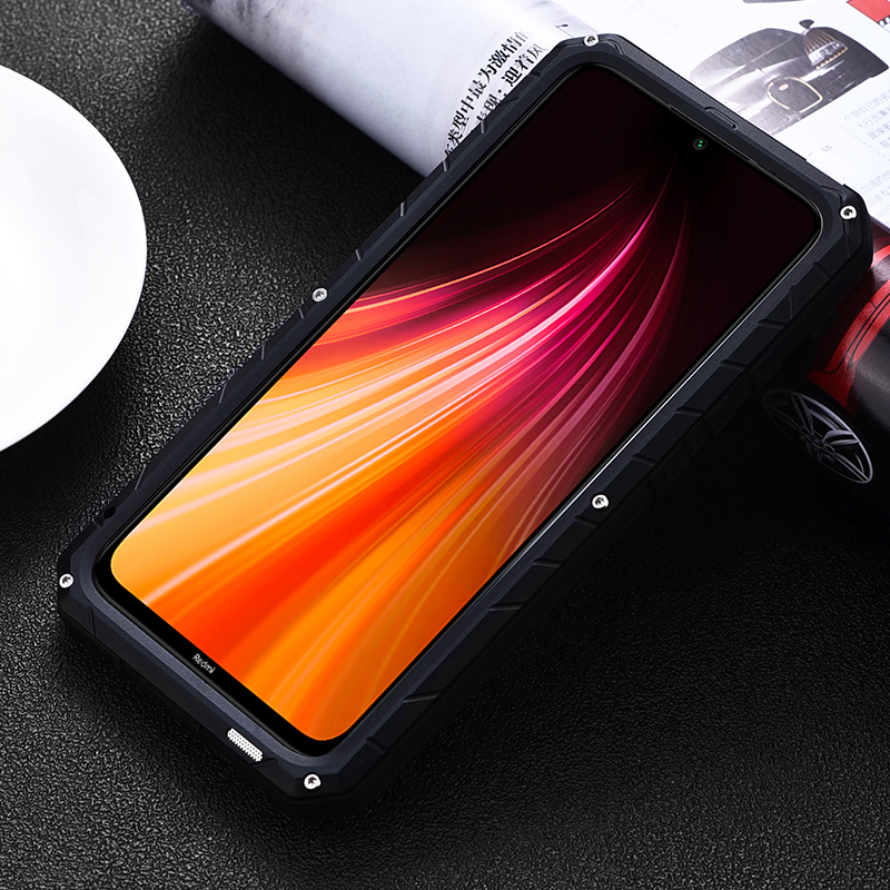 Image 3 - IMATCH Aluminum Metal Silicone Shockproof Case Cover For Xiaomi Redmi Note 8 / Note 8 Pro Dirt Shock Proof Cover CaseFitted Cases   -