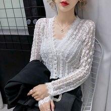 Белая кружевная блузка беткау женские рубашки 2020 Рождественская