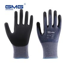 אנטי לחתוך כפפות רמת 5 2019 חדש GMG כחול דק רך HPPE פגז CE מוסמך לעבודה בטיחות מכונאי כפפות לחתוך אנטי