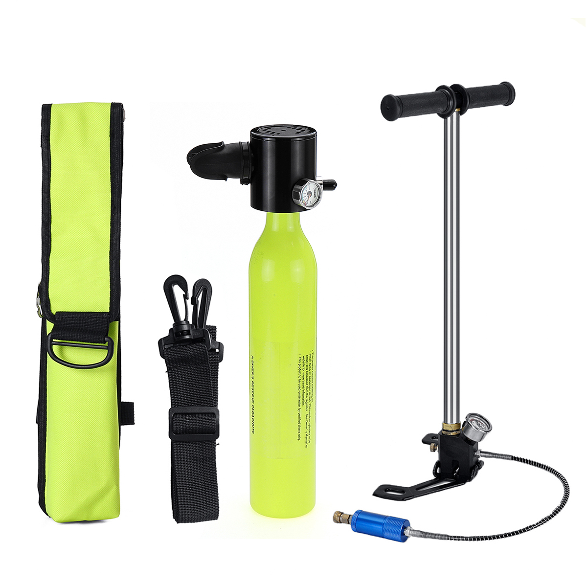 0.5L Portable Mini Scuba Oxygen Cylinder Air Tanks Diving Equipment For Snorkeling Underwater Breathing Pump Bag for 7-10minute(China)