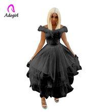 Adogirl 2019 Новый Для женщин с вырезом лодочкой платье для