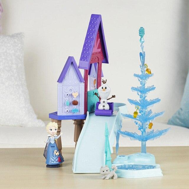 Hasbro Frozen Elsa Holiday Surprise Series Snow Scene Dream Castle Birthday Gift Toys for Girls C1919 4