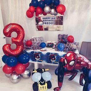 28 шт./лот, большой воздушный шар из фольги в виде Человека-паука 103x108 см для мальчиков, вечерние украшения на день рождения, детские игрушки д...