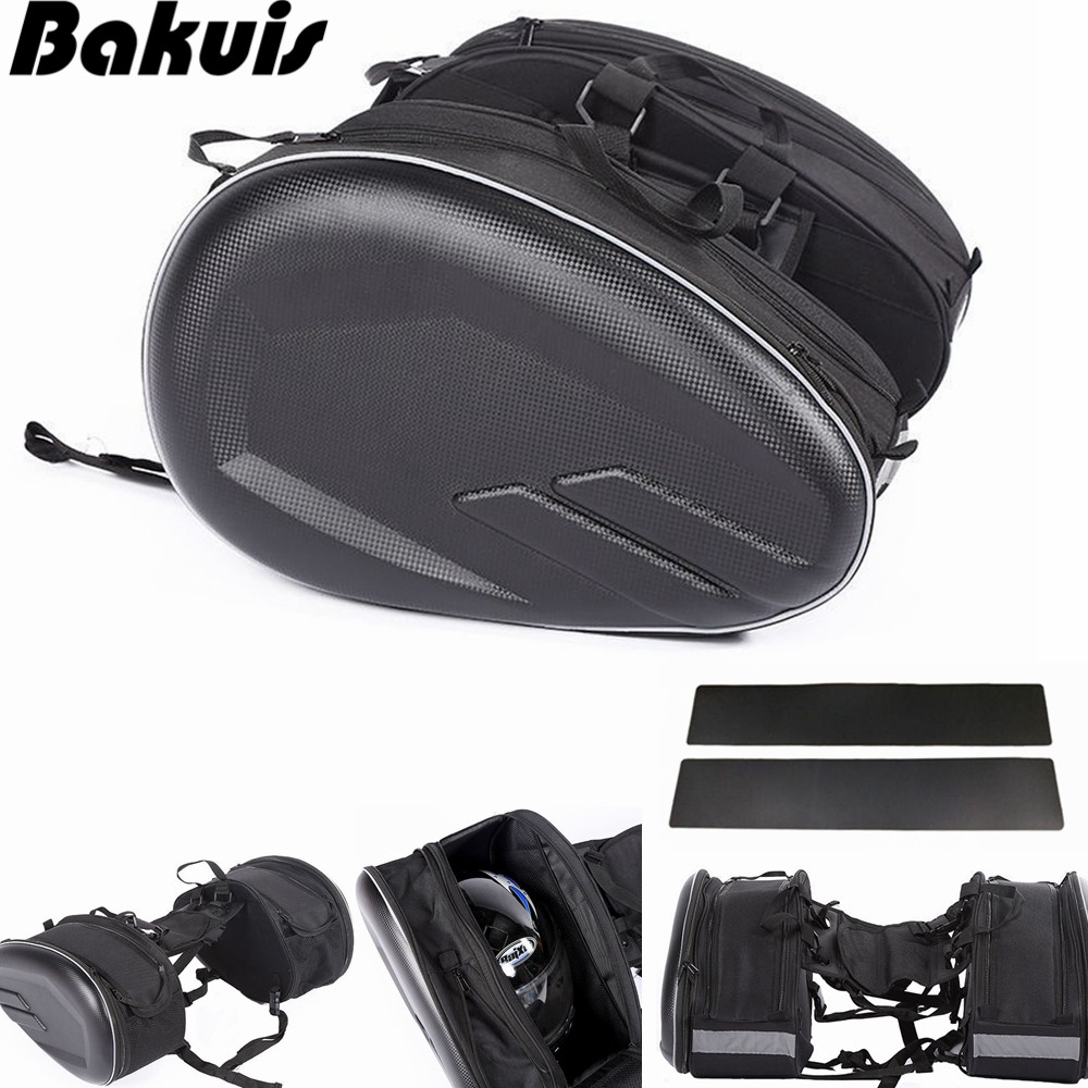 Motorcycle Saddlebags Panniers Waterproof Travel Luggage Bags 36L-58L Expandable Capacity
