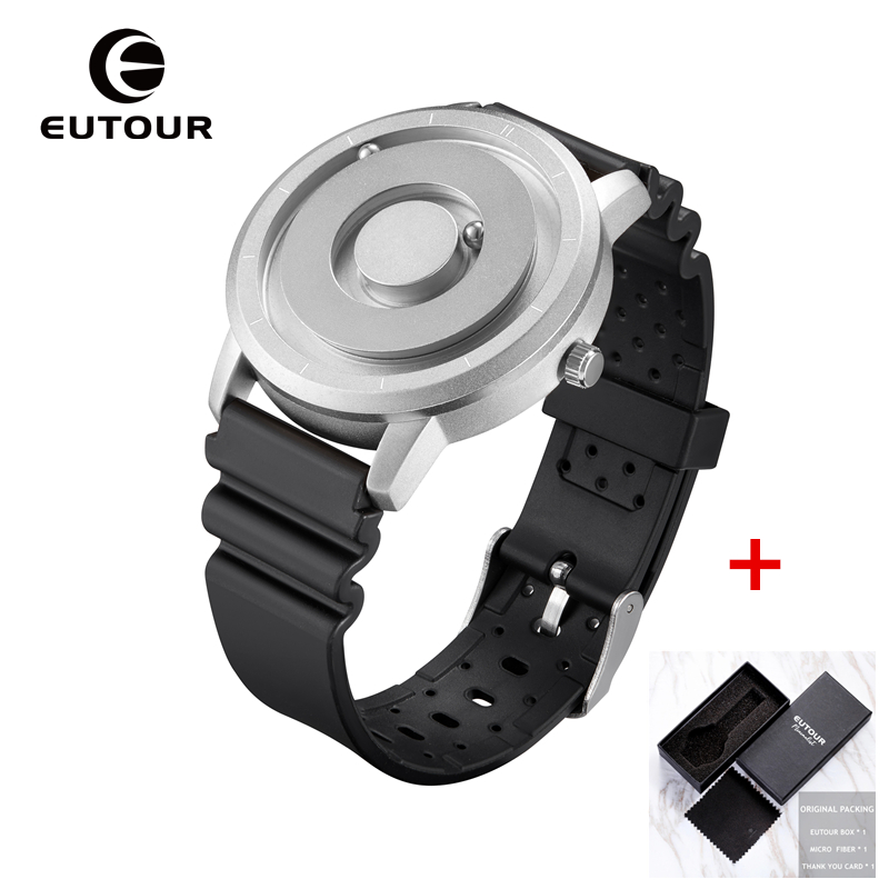 Image 3 - EUTOUR New Innovative Blue Gold Magnetic Metal Multifunctional Watch Men's Fashion Sports Quartz Watch Simple Men's Watch-in Quartz Watches from Watches