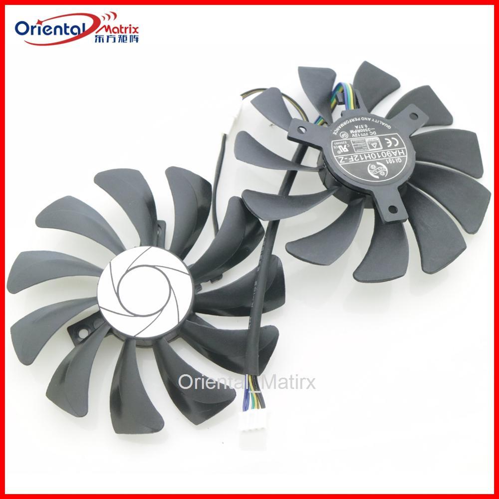HA9010H12SF-Z HA9010H12F-Z 12 v 0.57a 85mm 4 fio 4pin para msi dataland placa gráfica ventilador de refrigeração