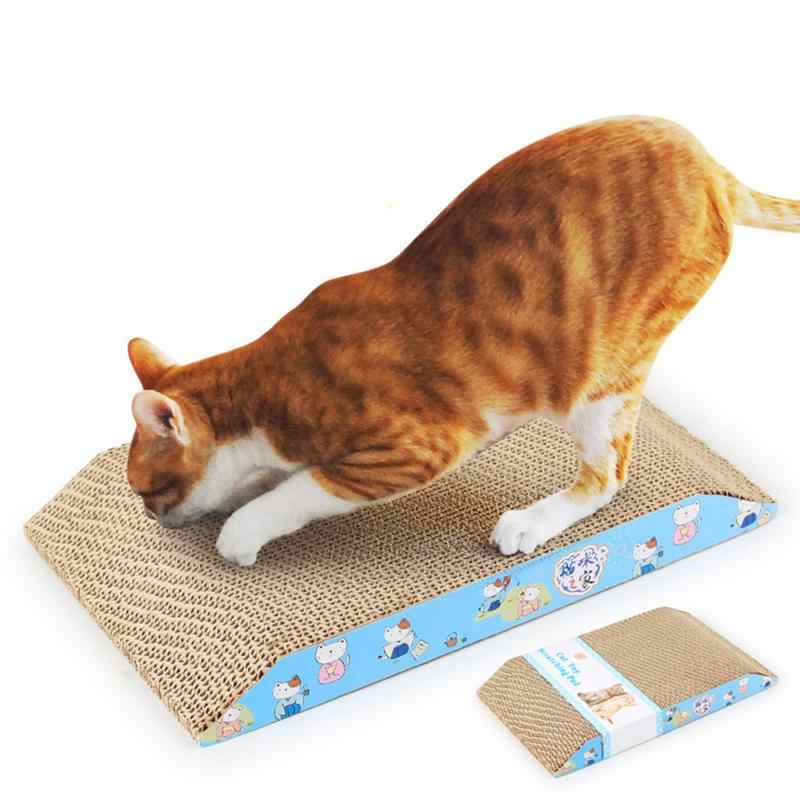 1pc 사다리꼴 애완 동물 고양이 스크래치 놀이 패드 골판지 선물 Catnip 장난감 안전 카드 보드 마우스 물고기 고양이 Scratcher 장난감 애완 동물 제품