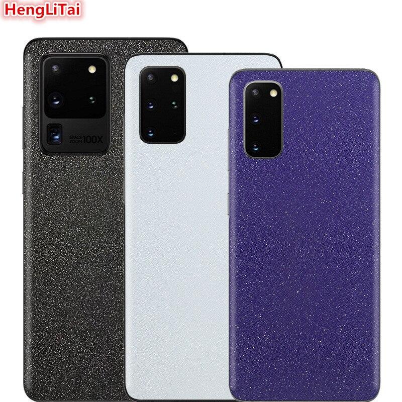 Matte Glitter Skins Protective Film For Samsung Galaxy S20 Plus/S20 Ultra/S10E/S10 Plus Wrap Skin Cellphone back paste Sticker