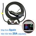 Elektrische Fahrzeug EVSE Auto Ladegerät für Nissan Blatt für Ford Typ 2 EV Ladegerät Schuko Stecker chademo 20A IEC 62196 2