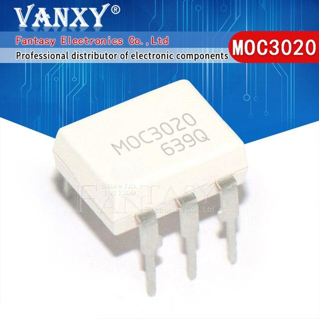 """10PCS MOC3020 MOC3021 MOC3022 MOC3023 MOC3041 MOC3043 MOC3052 MOC3061 MOC3062 MOC3063 DIP6 מח""""ש החדש המקורי"""