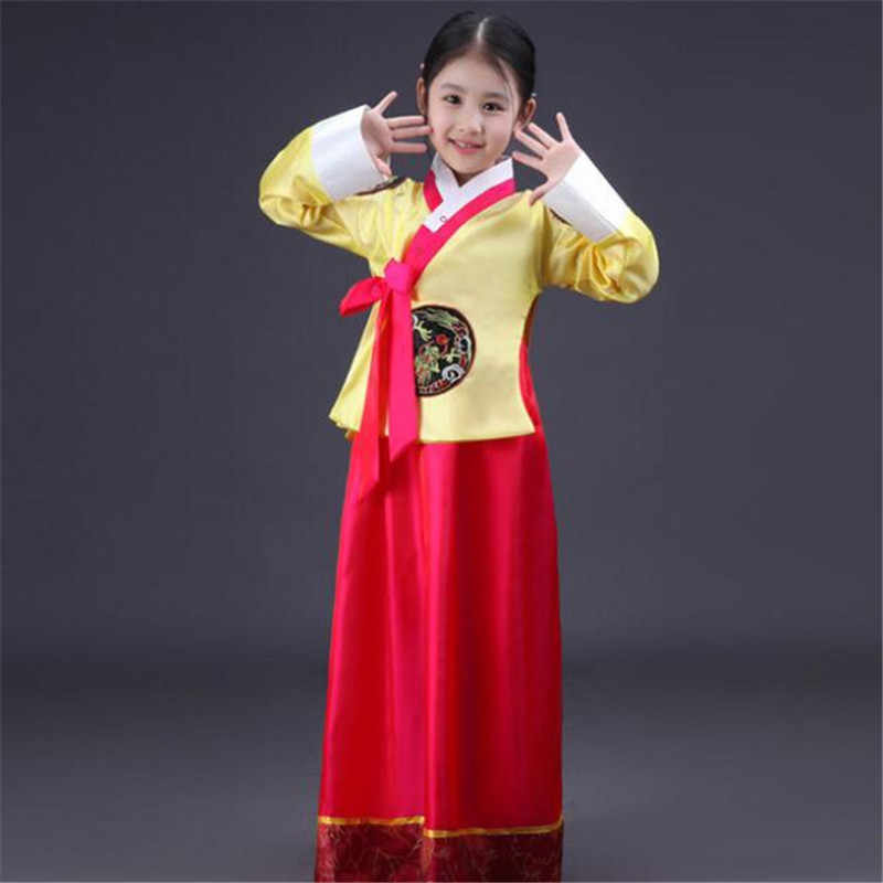 Traditional Hanbok Dress Korean Folk Dance Ancient Costume Korea Party Girl Kids Chest Jacket Skirt Mother&Daughter Parent-child