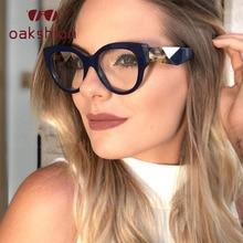 oakshion 2019 Female Cat Eye Glasses Frame Women Square Computer Ladies Vintage Myopia Clear Lens Eyeglasses Eyewear