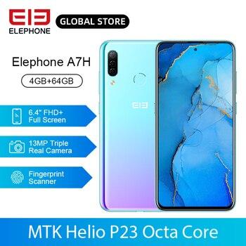 Перейти на Алиэкспресс и купить ELEPHONE A7H Helio P23, четыре ядра, 4 Гб 64 ГБ, мобильный телефон, 6,4 дюйма, полный экран, Android 9,0, 3900 мАч, быстрая зарядка, отпечаток пальца, мобильный теле...