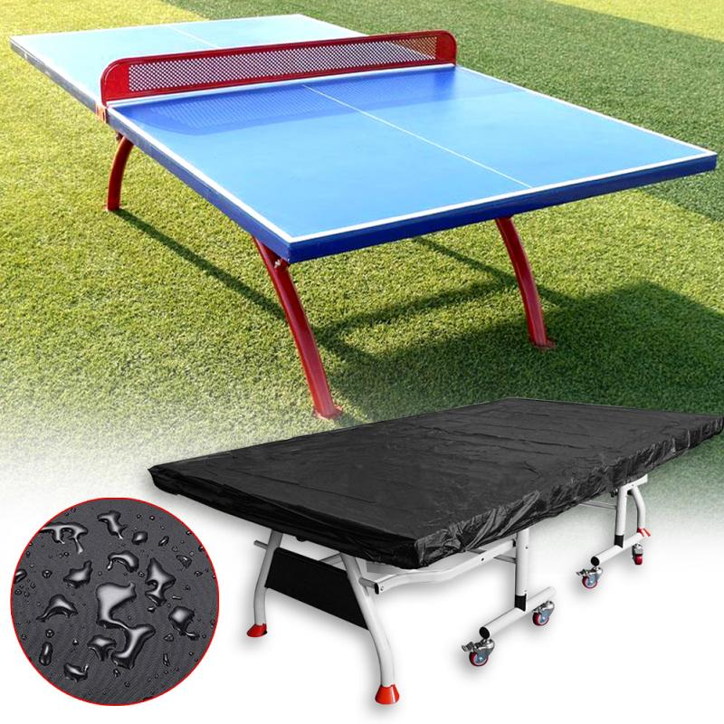 Table Tennis Table Cover Table Cover Waterproof Dustproof Anti-ultraviolet Black Convenient Sports Outdoor Indoor Moisture