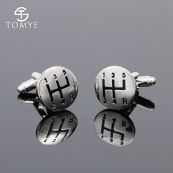 TOMYE, мужские запонки, модные, персональные, для автомобиля, коробка передач, для французских, серебряных, медных рубашек, запонки, XK18S424