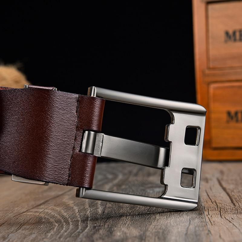 [LFMB]Men's belt leather belt men  pin buckle cow genuine leather belts for men 130cm high quality mens belt cinturones hombre 2