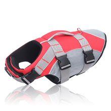 Dog Lifejacket Reflective Dog Life Jacket Vest Life Preserver Swimsuit with Rescue Handle for Large Medium Small Dogs