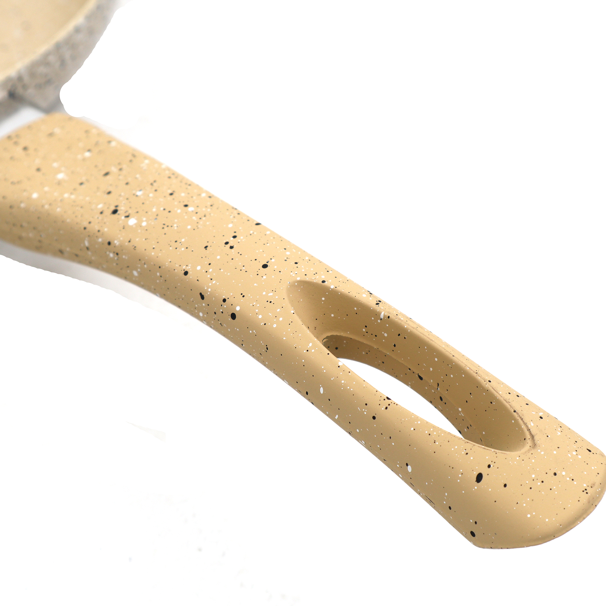 Beige Granite Marble Coating Non-Stick Frying Pan 4