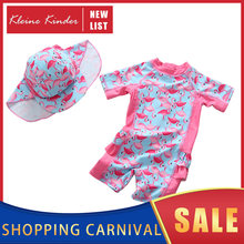 Купальник для маленьких девочек цельный купальный костюм с фламинго