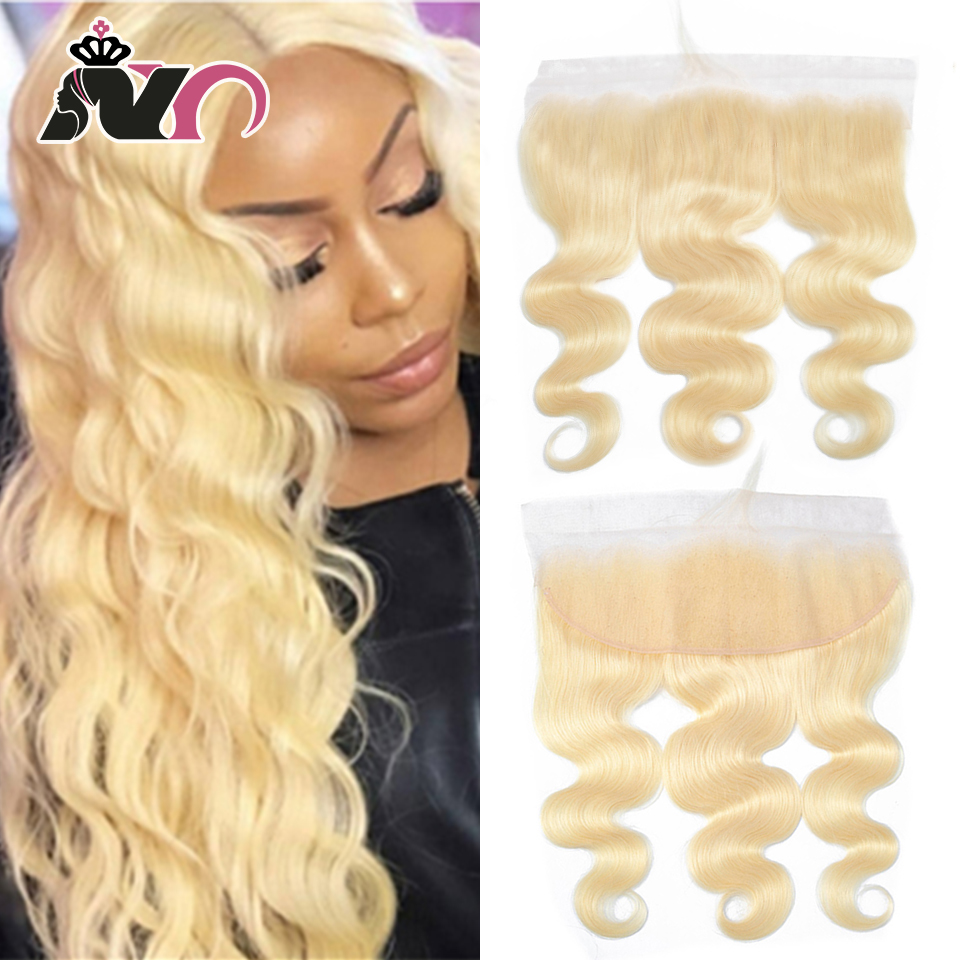 NY Hair 613 Ombre Lace Frontal  Ear To Ear Blonde 13*4 Brazilian Remy 100% Human Hair Body Wave Frontal Swiss Closure 6-20 Inch
