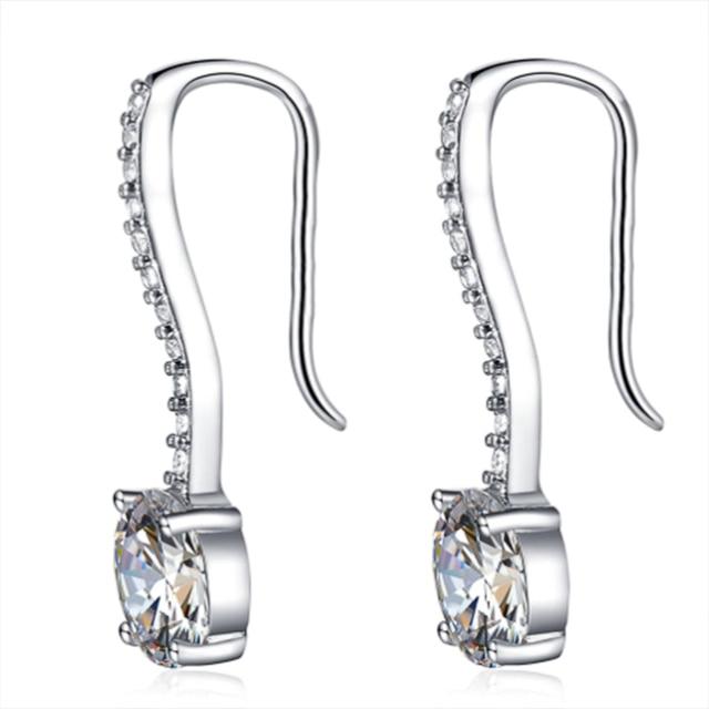 Hot Sale Women Earrings Luxury Inlaid CZ Stone Simple and Elegant Lady's Accessories Wedding Trend Earrings Jewelry 5