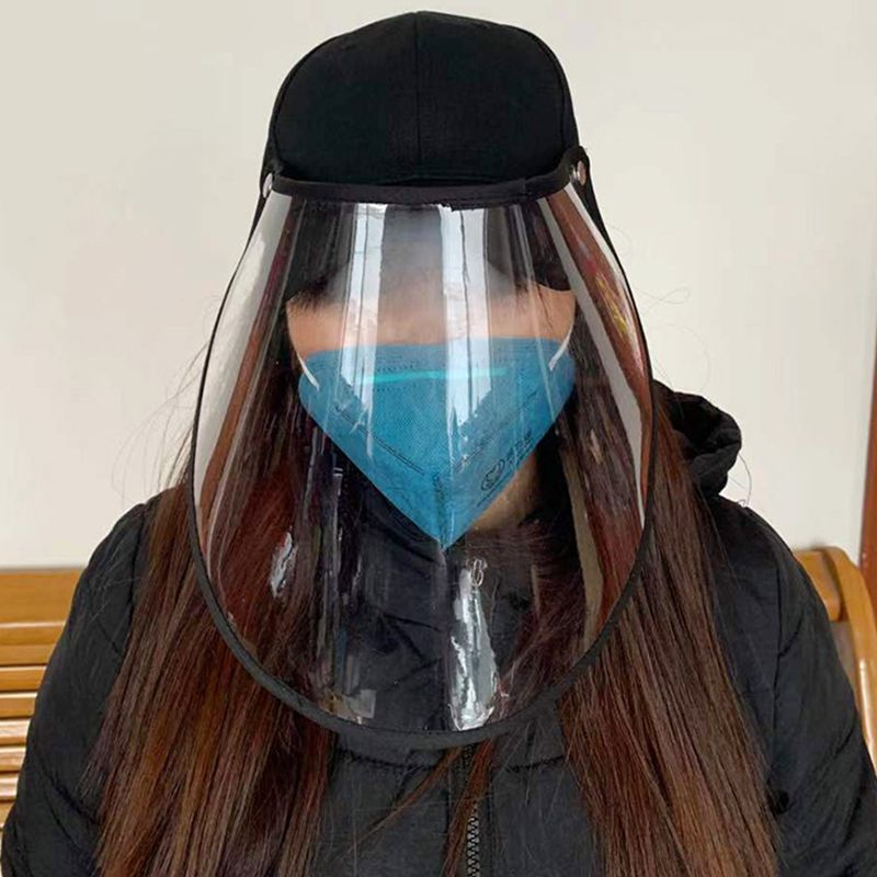 NEW Safety Anti Spittle Face Shield Dust Mask Cover With Hat Anti Flue Safety Protective Full Face Eyes Protection Mask