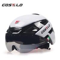 Costelo 사이클링 헬멧 4 색 MTB 마운틴로드 자전거 헬멧 자전거 헬멧 Casco Speed Airo RS Ciclismo 고글 Bicicleta