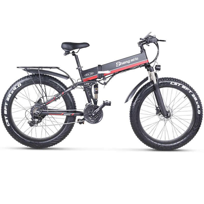 ไฟฟ้าจักรยาน 1000Wไฟฟ้าจักรยาน 4.0 ไขมันยางไฟฟ้าจักรยาน 48V Mens Mountain Bike Snow E-จักรยาน 26 นิ้วจักรยาน