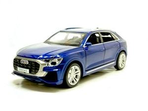 Image 4 - Audi Q8, à forte simulation 1:32, avec lumière sonore, en alliage, modèle de voiture, jouets pour enfants, cadeaux, livraison gratuite