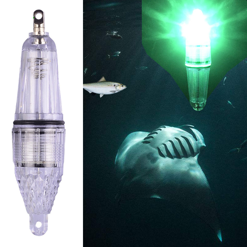 Smart Kingfisher Green LED Night Fishing Light Fish Gathering Attracting Lure Attractive Attractor Underwater Lamp Waterproof