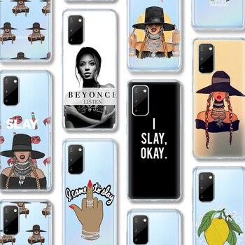 Funda ciciber Beyonce para Samsung Galaxy A51, A50, S20, S10, A71, A70, A40, S9, S8, A30, S7, S10e, Ultra Note 10, 9, 8 Edge Plus, fundas de silicona