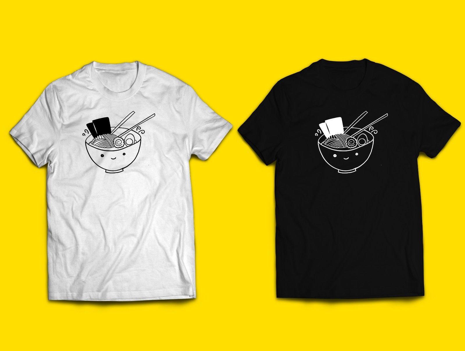 US $6 99 Ramen T Shirt Makanan Jepang Kawaii Anak Anak Orang Dewasa Wanita Uni Mie Lucu Minimal Kartun T Shirt Pria Uni Fashion Baru On