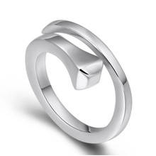 925 Sterling Silver Creative Design Adjustable Rings for Women Opening female engagement Ring Jewelry