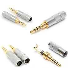 4 полюс 3,5 мм стерео наушники штекер штекер разъем аудио припои разъем