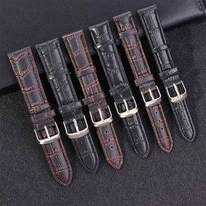 Ремешки из искусственной кожи, ремешки для часов 16 мм 18 мм 20 мм, аксессуары для часов для мужчин, коричневый и черный
