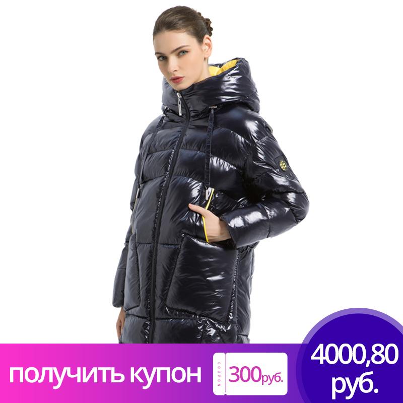 2019 New Winter Womens Coat Hooded Female Jacket with Zipper womens Clothing Thick Warm Coats Casual Ladies Parkas GWD19504I