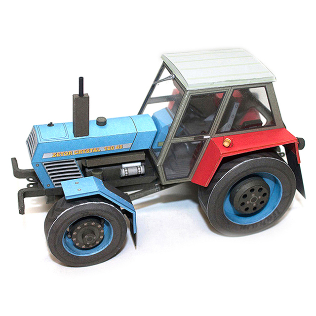 Crystal 120 45 Tractor Czech Folding Mini 3D Papercraft DIY Adult Craft 5