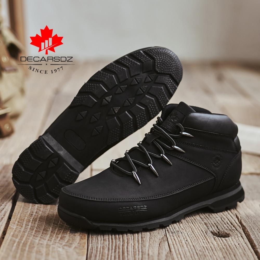 DECARSDZ Men Casual Boots 2021 New Men Fashion Shoes Man Brand Lace-up Winter Boots Men winter Boot Shoes Man Shoes Men's Boots 3