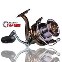 14+1BB Bearings Fishing Reel Max Drag Full Metal Spinning Reel 4.0:1 Gear Ratio Spinning Reel Long Casting Fishing Reel