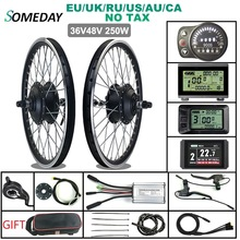 Hub-Motor Wheel Ebike Electric-Bicycle-Conversion-Kit Woterproof-Plug 700C 250W Rear