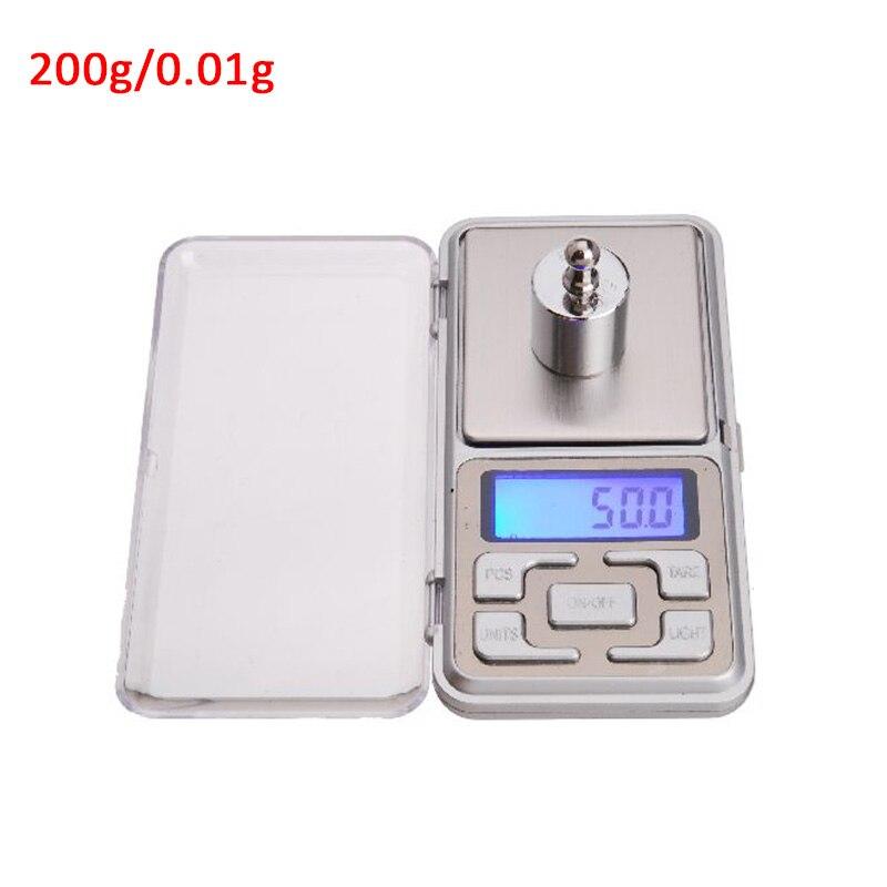 Карманные точные электронные весы для ювелирных изделий, мини весы, высокая точность, весы 500 г X 0,01 г, Мини цифровые весы - Цвет: 200g0.01gABS