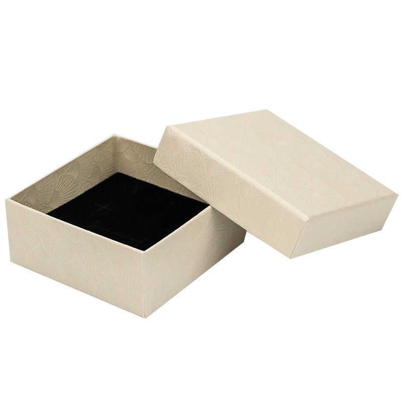 2019 حلقة مربعة قلادة القرط سوار الزفاف تاريخ المجوهرات هدية صندوق دقيق بلون صندوق مجوهرات عالية الجودة بالجملة