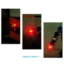Lekki rower usb rowerowa kierownica do roweru wtyk końcowy czerwone światło LED ostrzeżenie bezpieczeństwo ponad wielkości bezpieczeństwo wodoodporne фары tanie tanio 1225 Rama Baterii