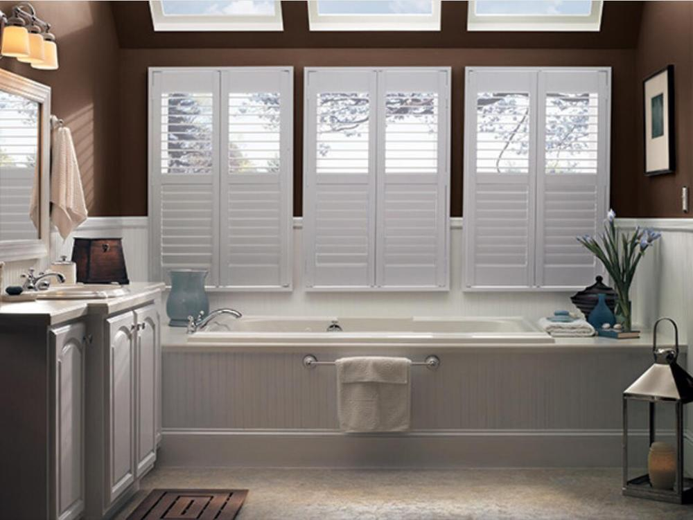 Custom Basswood Plantation Shutters  Wooden Blinds Solid Wood Shutter Louver PS213